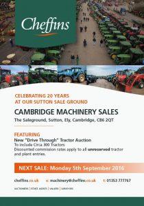 auction, cheffins, farm machinery