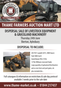 Thame farmers auction livestock and grassland machinery
