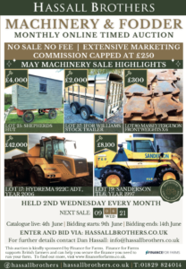 Hassall Brothers online farm machinery auction June 2021