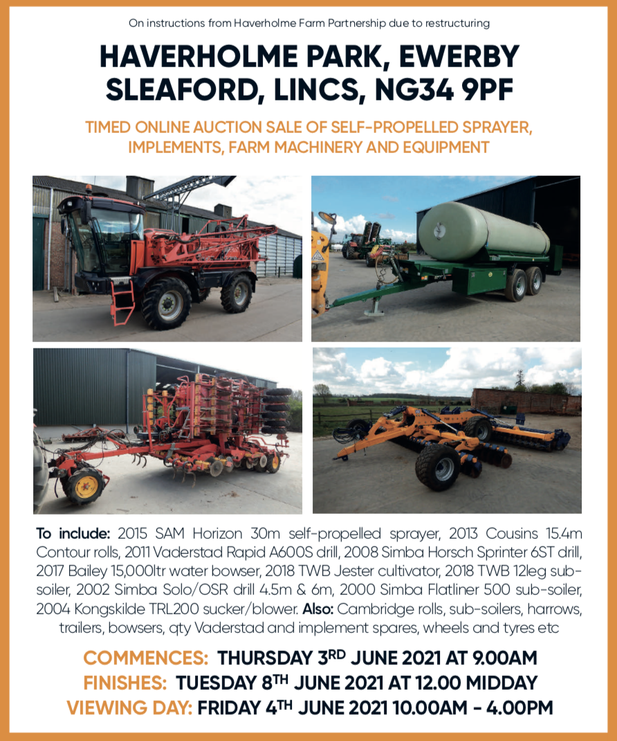 Online auction of farm machinery and equipment cheffins
