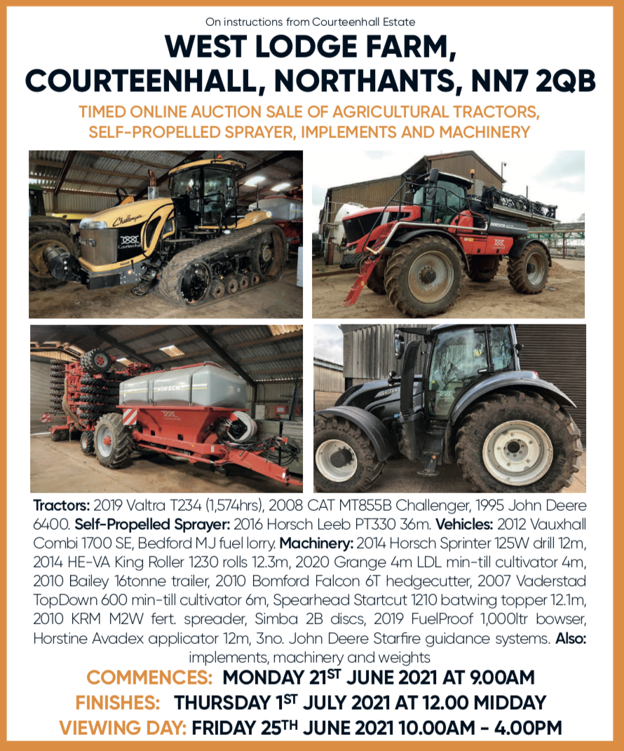 Online auction of tractors farm machinery and equipment