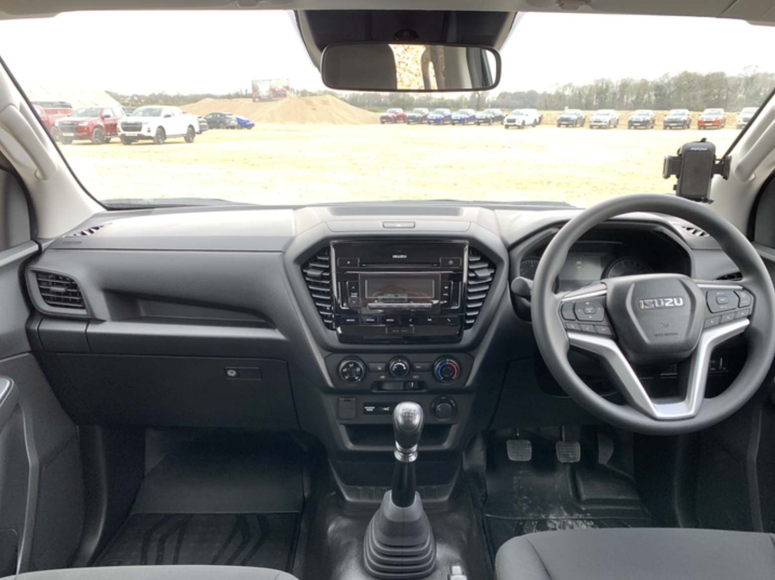 The Utility's dashboard is packed with driver aids and technology.
