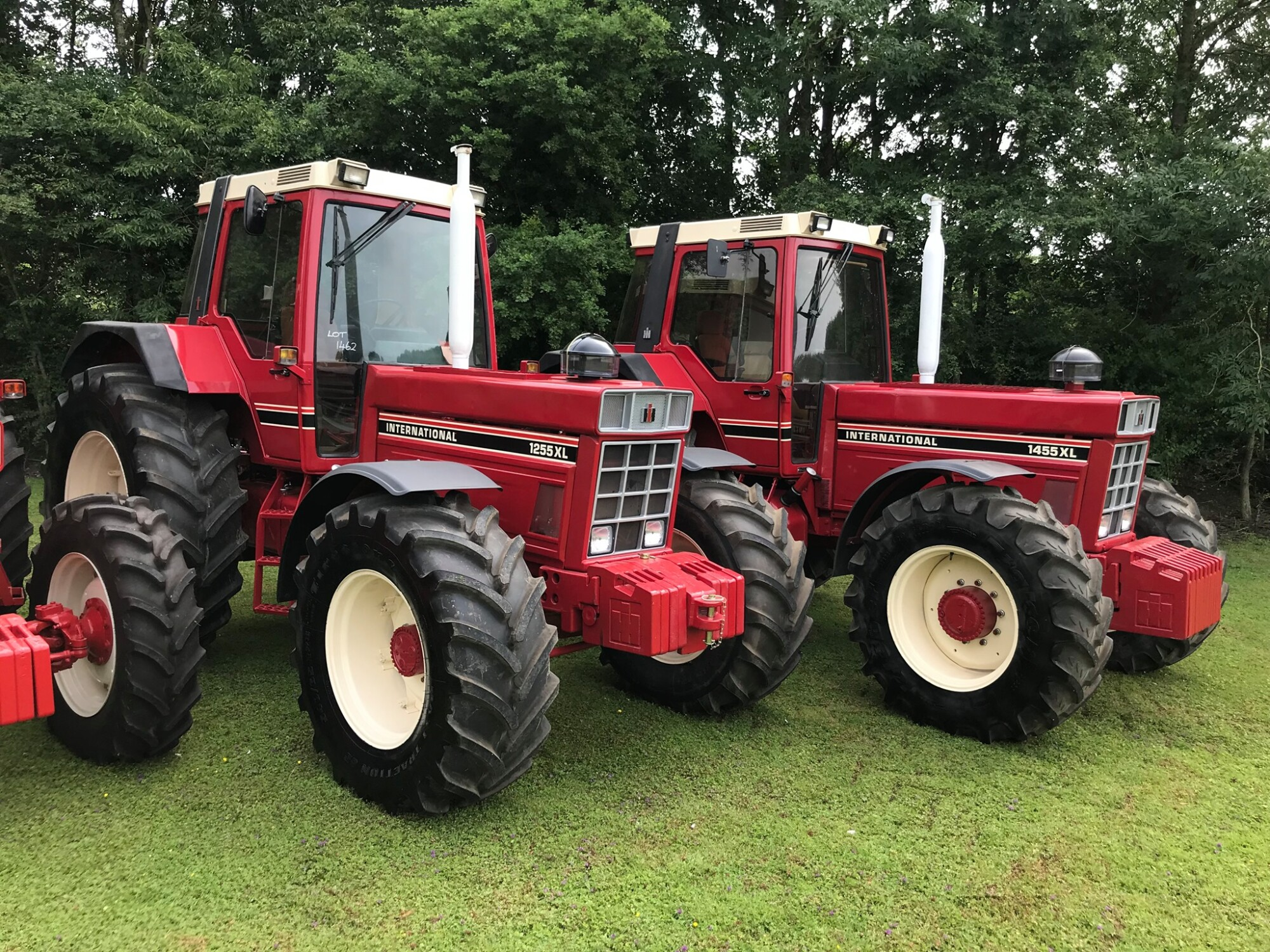 Red vintage tractors for Cheffins auction