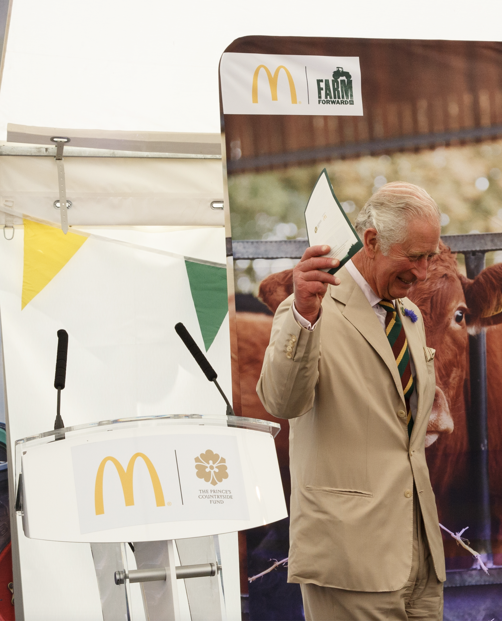 HRH the Prince of Wales speaking at The Great Yorkshire Show