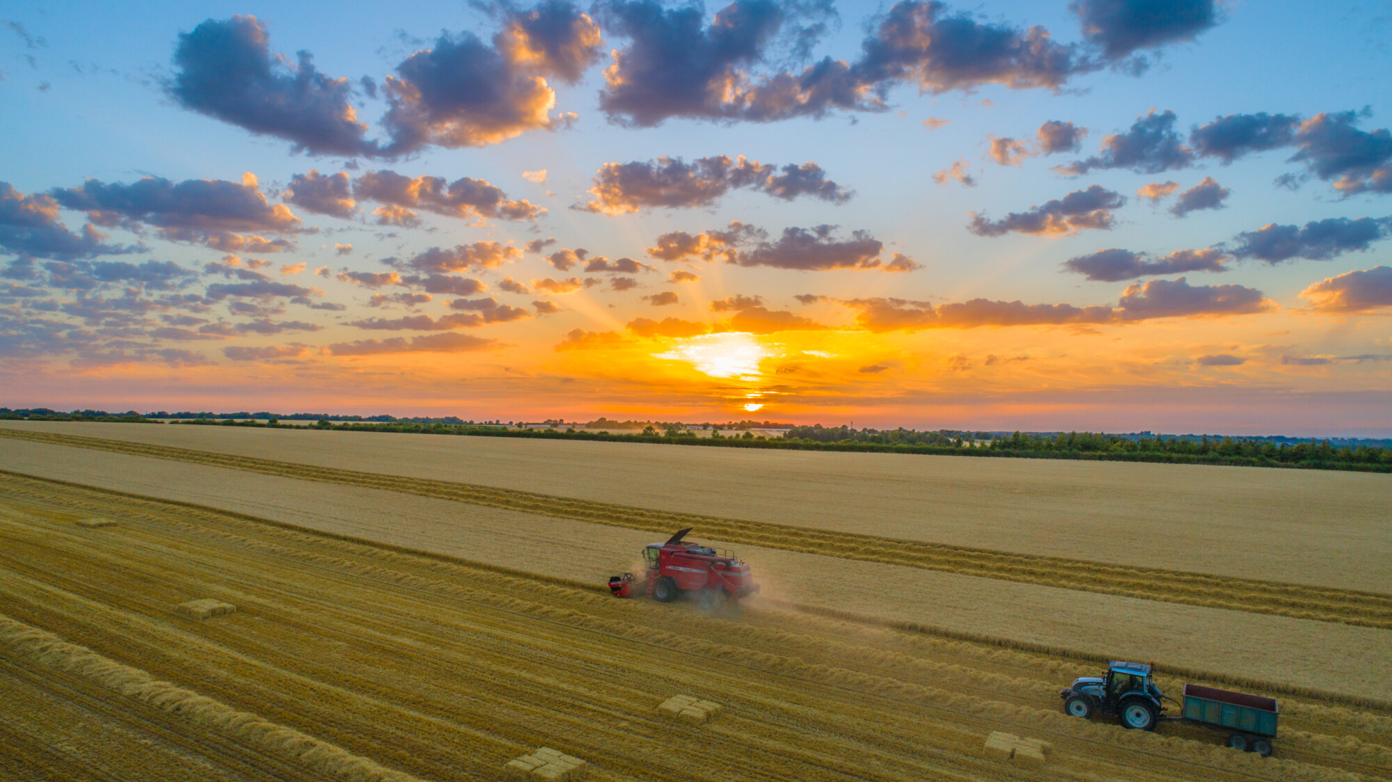 Farm Safety tractors in field