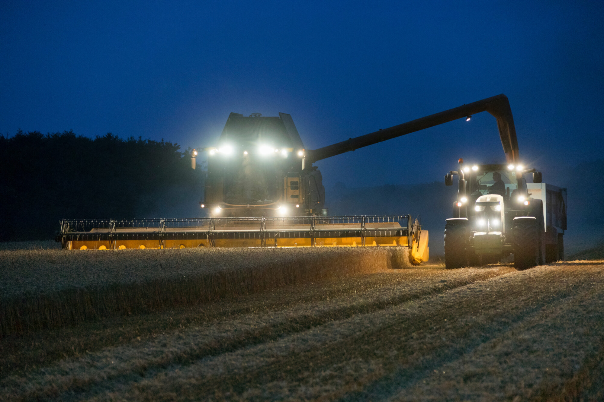 combining at night farm safety